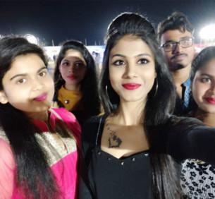 Selfie with friends at GIETU Campus